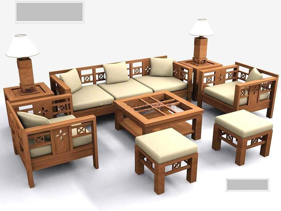 Tìm mua sofa gỗ nệm giá rẻ cho phòng khách