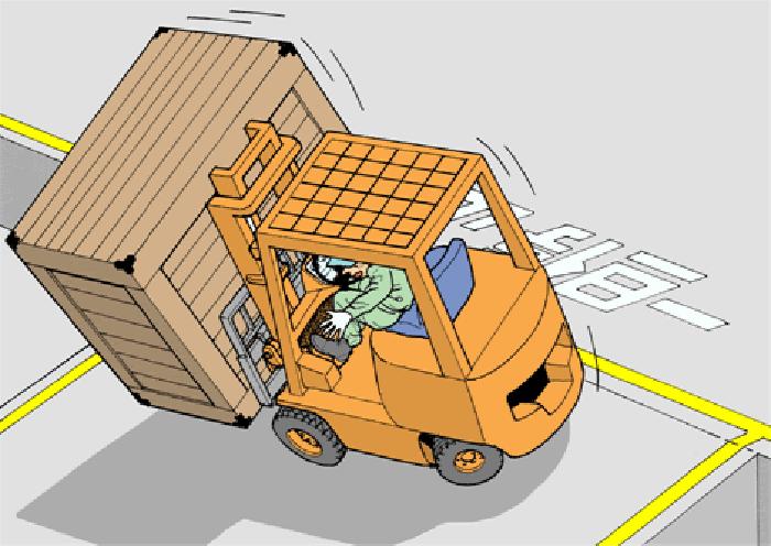 Khi xe nâng bị lật người vận hành nên làm gì?